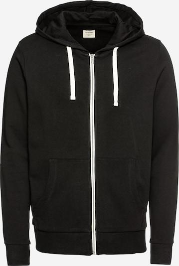 JACK & JONES Bluza rozpinana 'JJEHOLMEN' w kolorze czarny / białym, Podgląd produktu