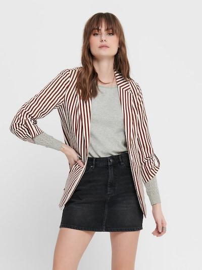 ONLY Blazer in braun / weiß, Modelansicht