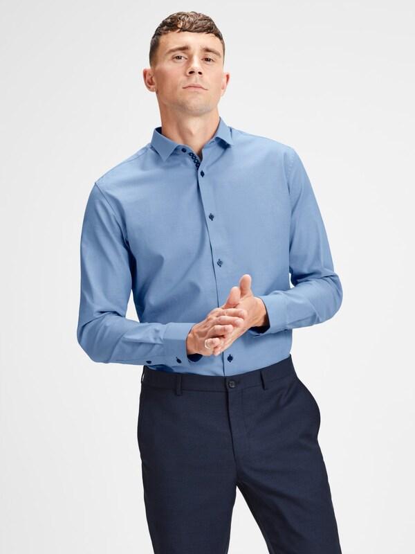 amp; Jack Jones Langarmhemd Blau Blau amp; Jones Langarmhemd Jack qPP7XUw