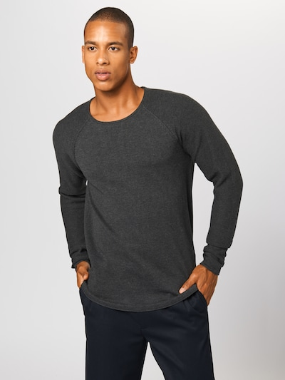 SELECTED HOMME Pullover 'Carter' in dunkelgrau: Frontalansicht