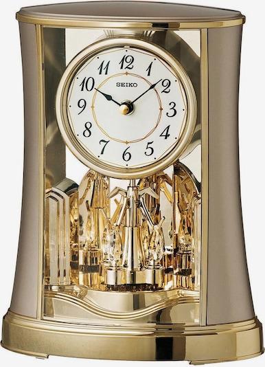 SEIKO Uhr 'QXN227G' in gold / weiß, Produktansicht