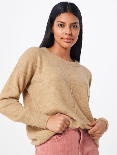 TOM TAILOR DENIM Pullover in camel, Modelansicht