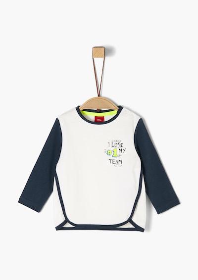 s.Oliver Junior Shirt in navy / neongelb / weiß, Produktansicht
