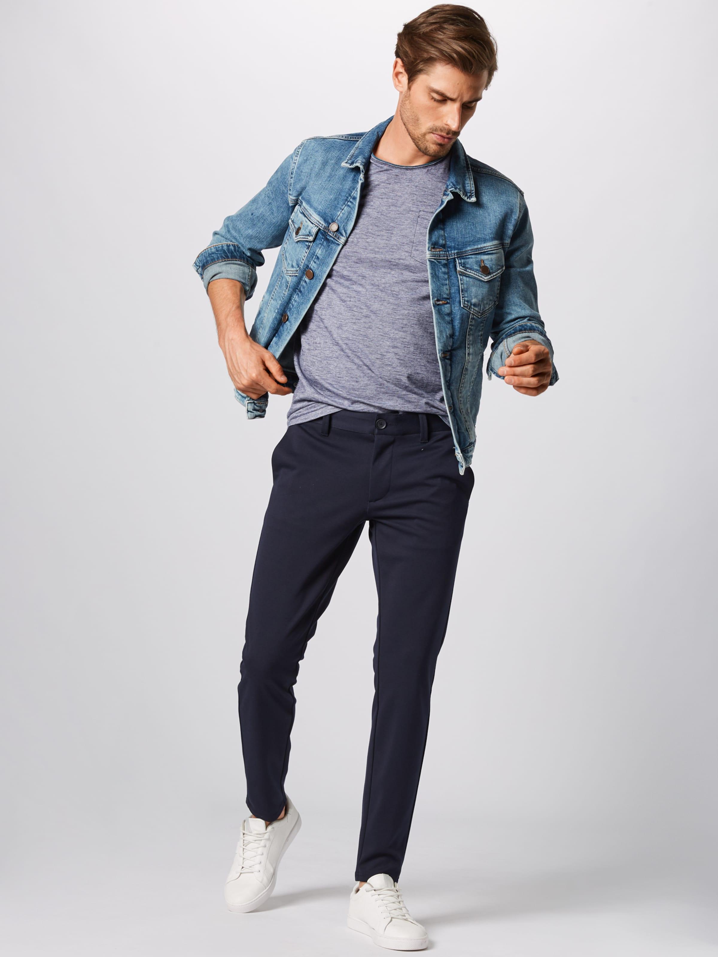 FoncéBlanc shirt Tom Tailor T En Bleu kXZiPu