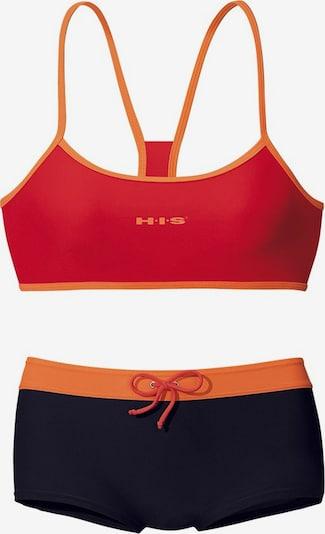 H.I.S Bikini in Orange / Red / Black, Item view