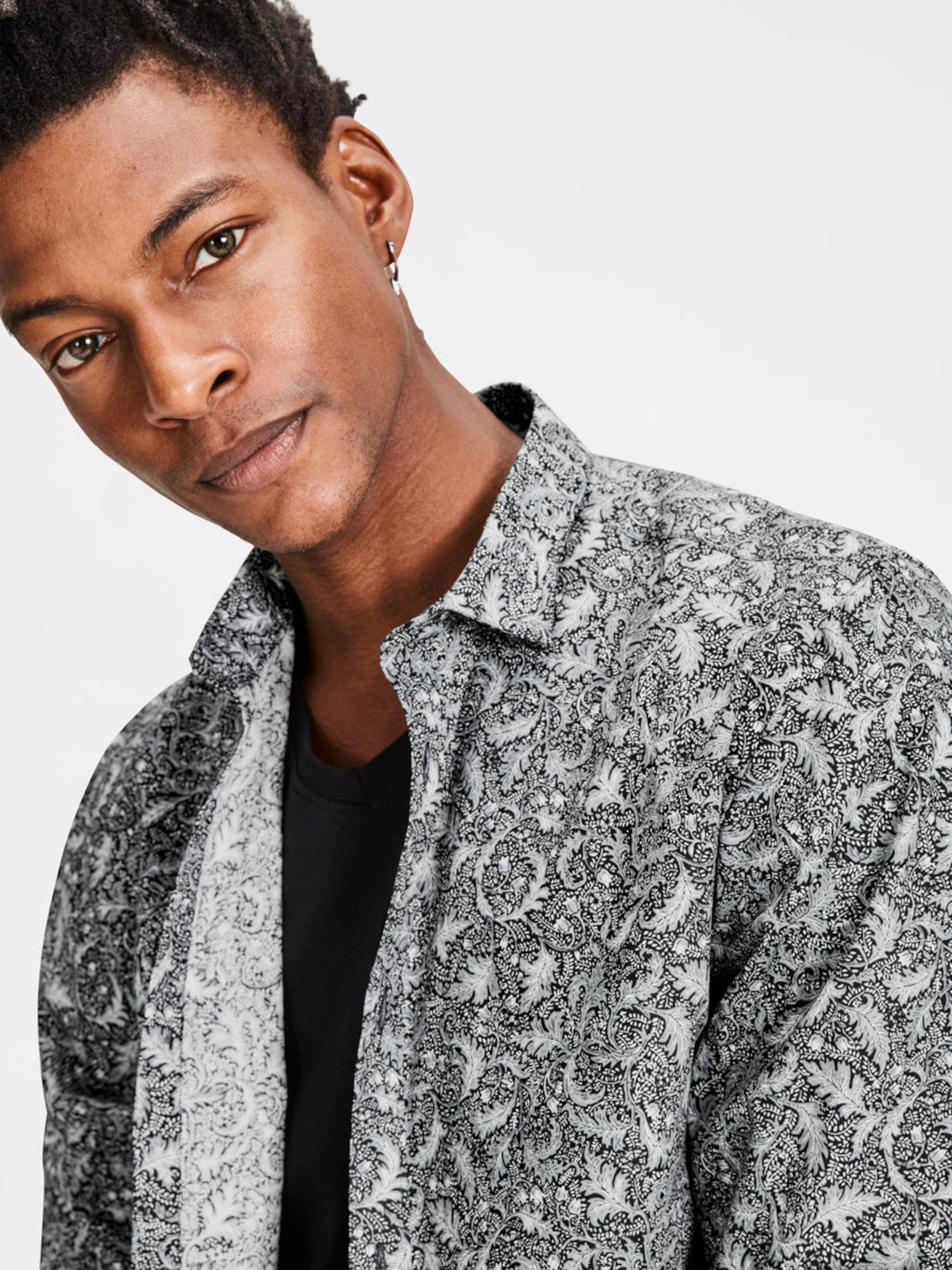 Unter 50 Dollar JACK & JONES Gemustertes Langarmhemd Billig Verkauf Zum Verkauf mcIsf8YE