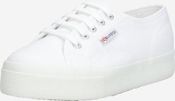 Sneaker low de la SUPERGA pe alb