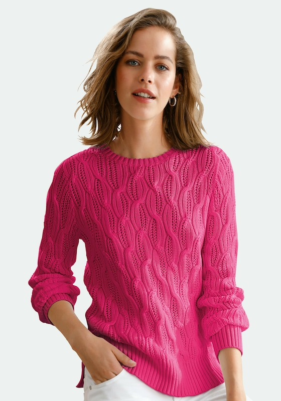 Looxent Pullover in pink: Frontalansicht