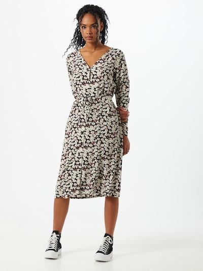 PIECES Kleid 'Jugla' in hellpink / schwarz / offwhite, Modelansicht