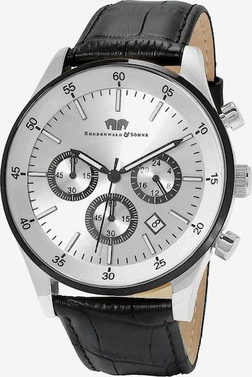 Rhodenwald & Söhne Uhr in schwarz / silber: Frontalansicht