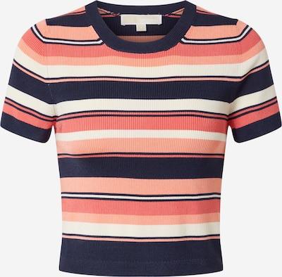 MICHAEL Michael Kors Koszulka 'Court Stripe' w kolorze ciemny niebieski / koralowy / brzoskwiniowym: Widok z przodu