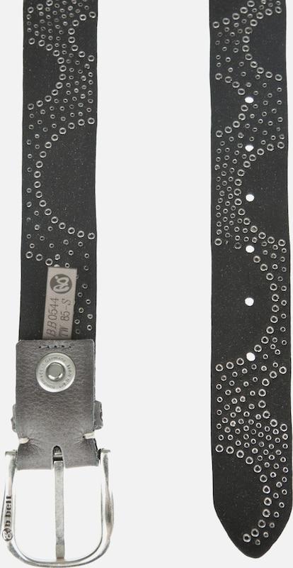 b.belt Handmade in Germany Ledergürtel mit aufwändigem Nietenbesatz