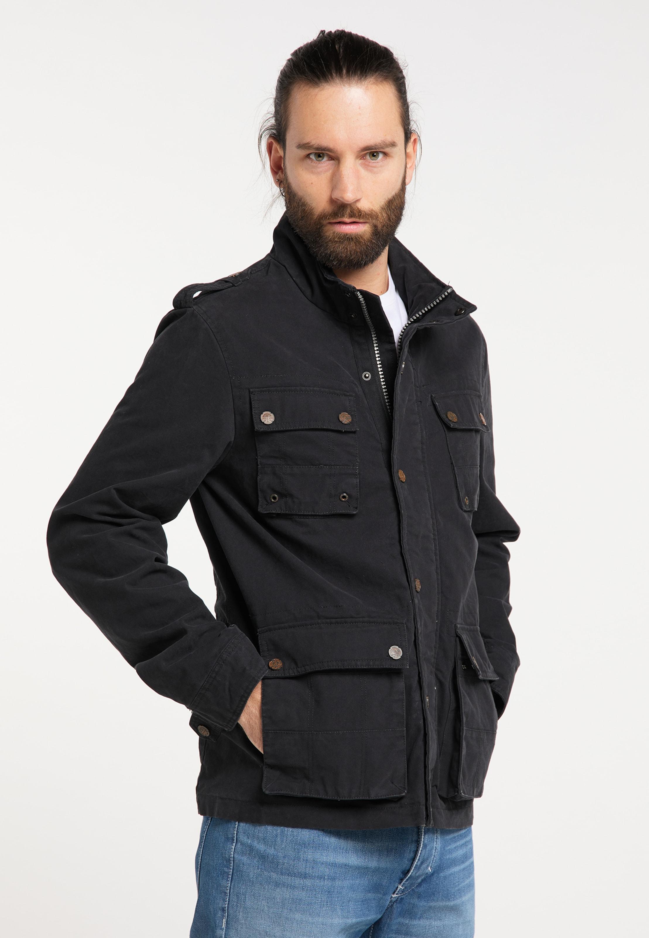 DREIMASTER Fieldjacket in schwarz Baumwolle 4251686648369