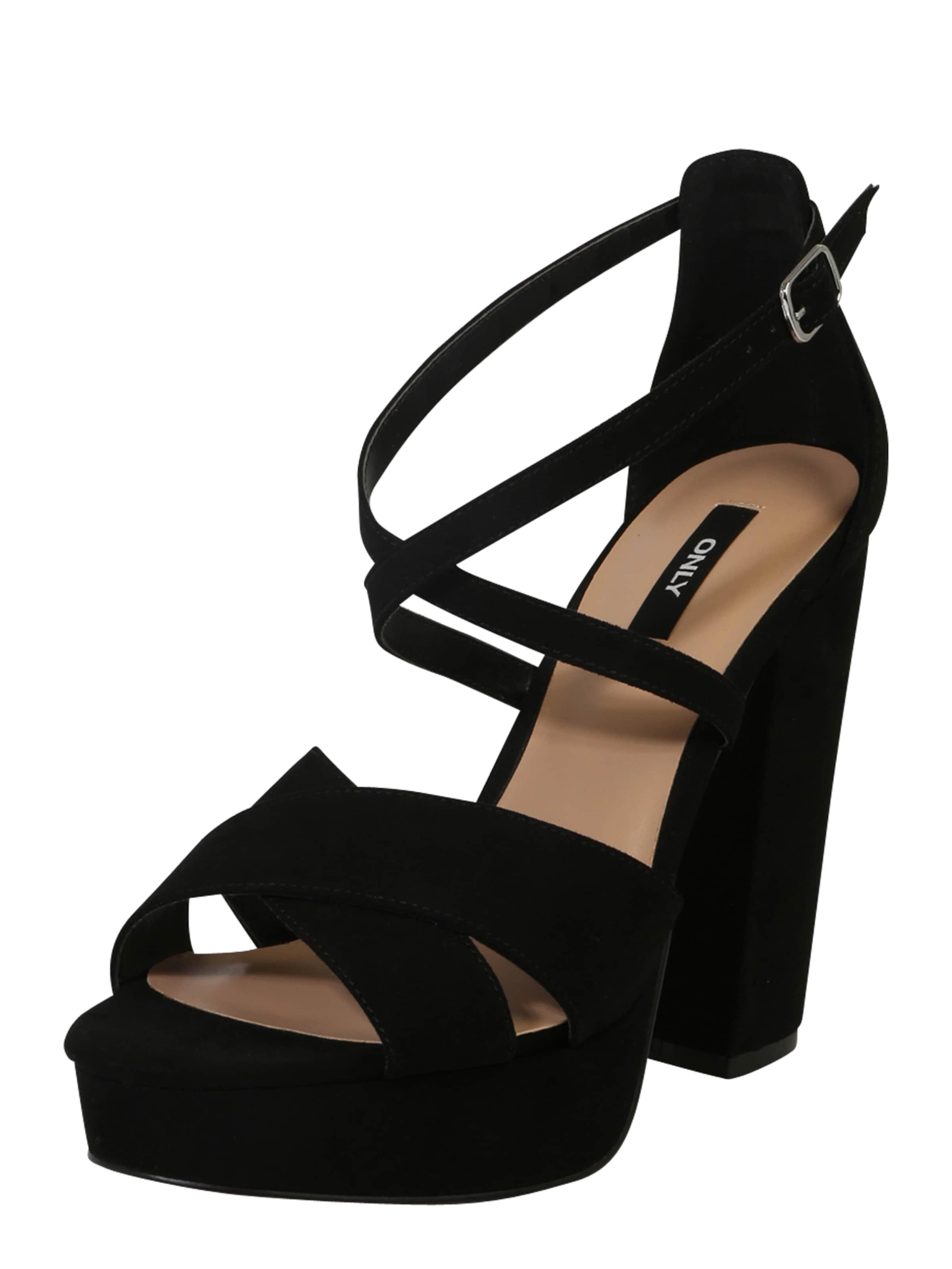 Haltbare Mode billige Schuhe ONLY | Plateau-Sandalette 'ALLIE' Schuhe Gut getragene Schuhe