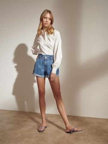White Blouse Shorts Look