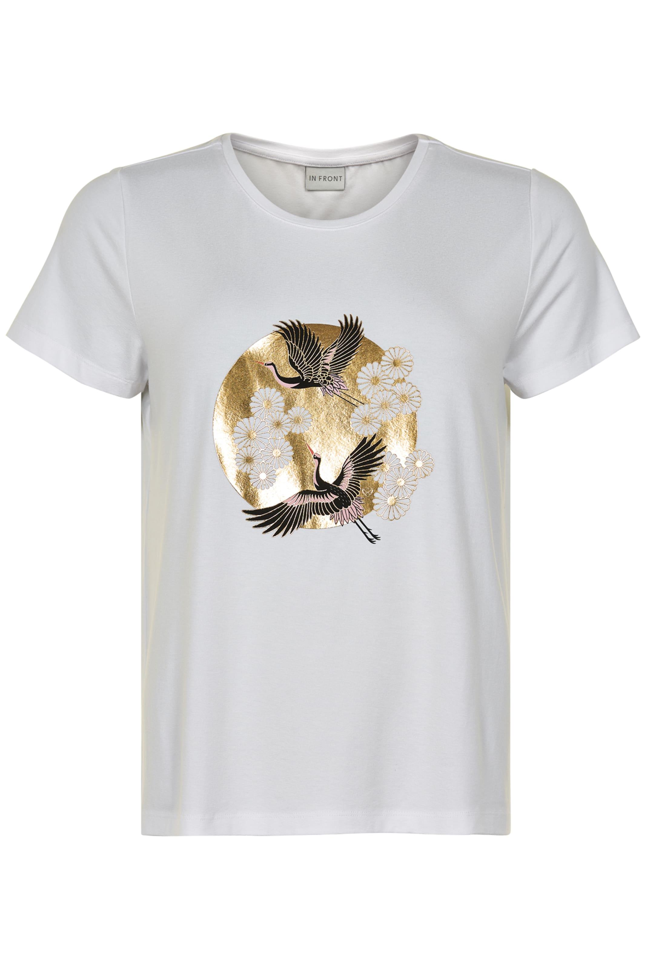GoldSchwarz Weiß Front shirt 'malla' T In ymIYf7bv6g