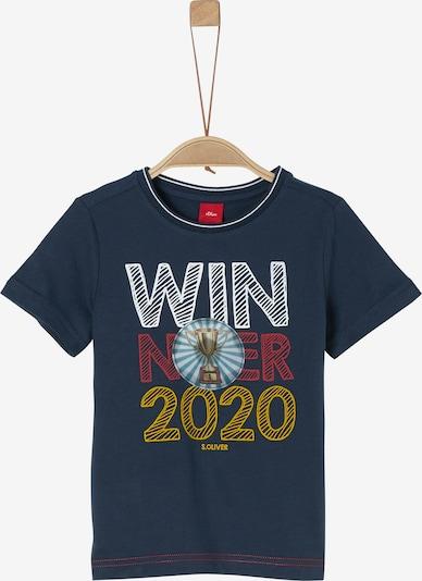 s.Oliver T-Shirt in dunkelblau / gelb / rot / weiß, Produktansicht