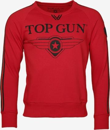 TOP GUN Sweater  ' Streak ' in Rot