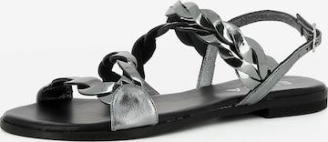 EVITA Sandale 'OLIMPIA' in Silber