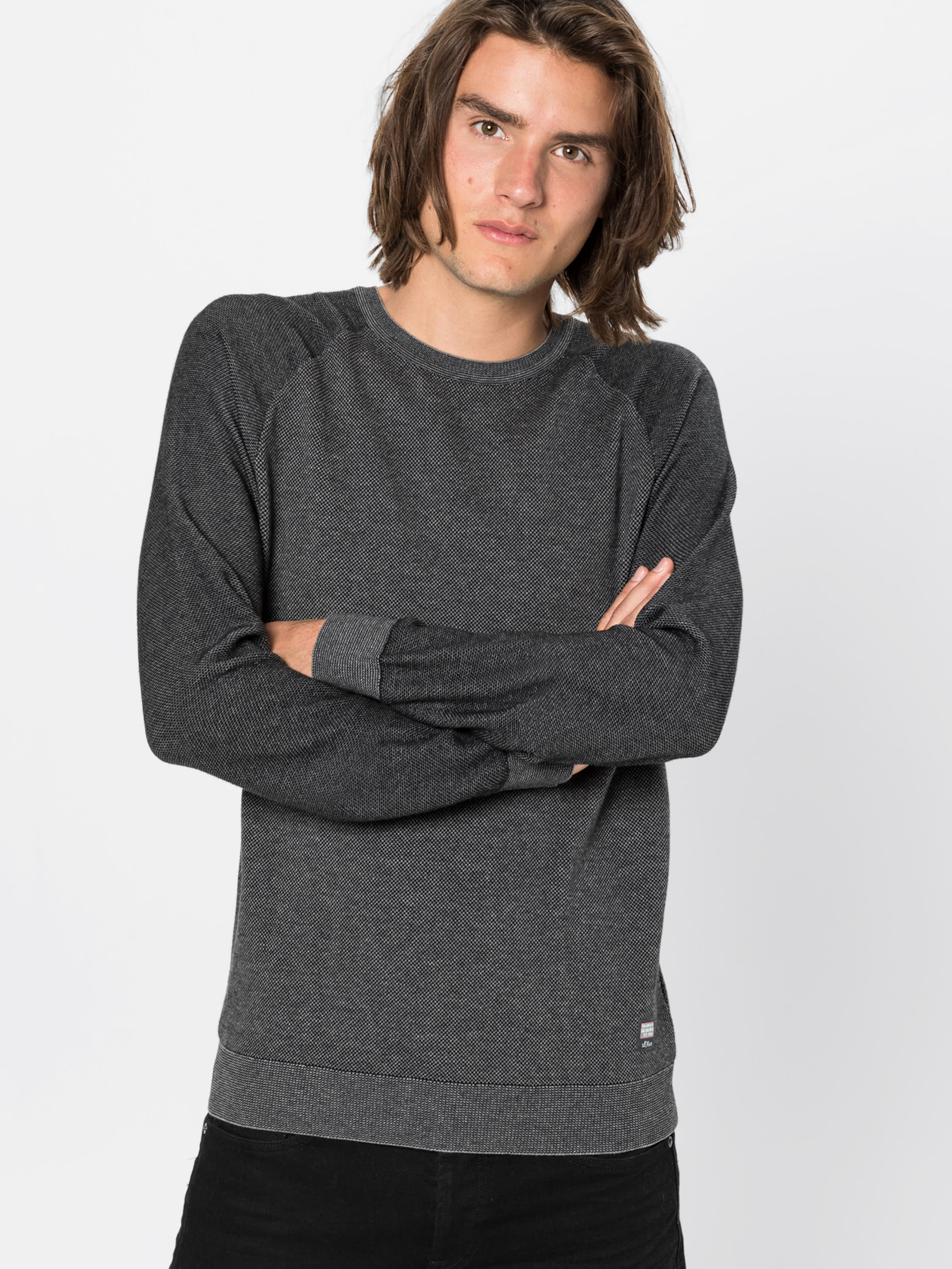Label GrauSchwarz Red S Pullover In oliver HID2WE9