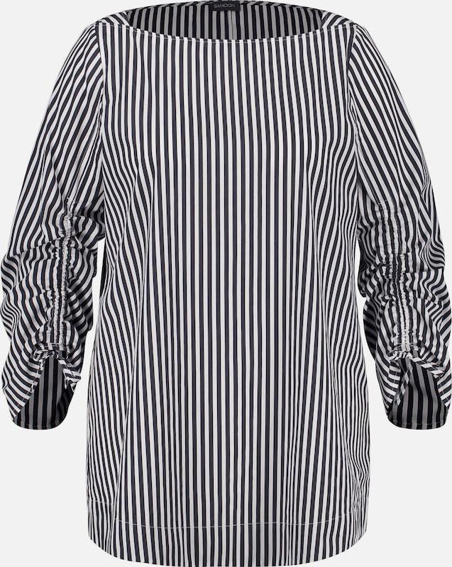 SAMOON Blause in schwarz   weiß  Mode neue Kleidung
