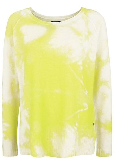 Grace Strickpullover im Batik-Look in gelb, Produktansicht