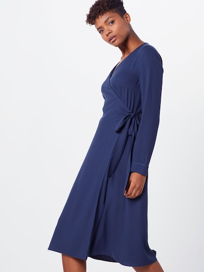 EDC BY ESPRIT Kleid 'Wrap dress' in navy, Modelansicht