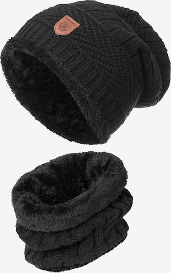 INDICODE JEANS Muts 'Siracusa Hoddie' in de kleur Zwart, Productweergave