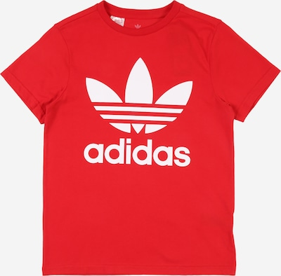 ADIDAS ORIGINALS T-Shirt 'Trefoil' en rouge: Vue de face
