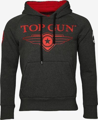 TOP GUN Kapuzenpulli ' Defender ' in grau, Produktansicht