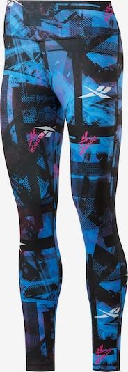 REEBOK Tights in blau / pink / schwarz, Produktansicht
