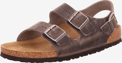 BIRKENSTOCK Sandale in taupe: Frontalansicht