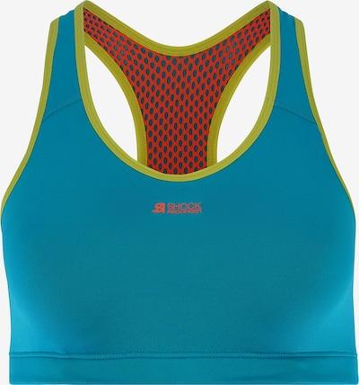SHOCK ABSORBER Sport-BH in türkis / kiwi / lachs, Produktansicht