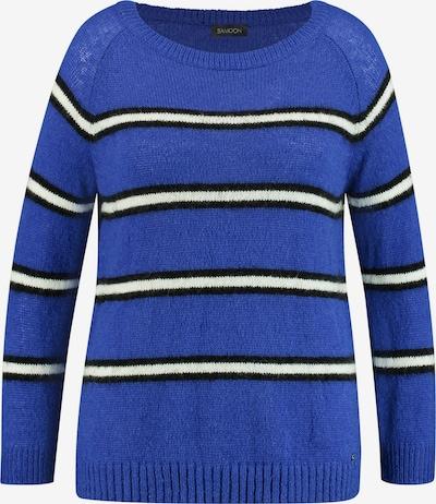 SAMOON Pullover in blau / schwarz / weiß, Produktansicht