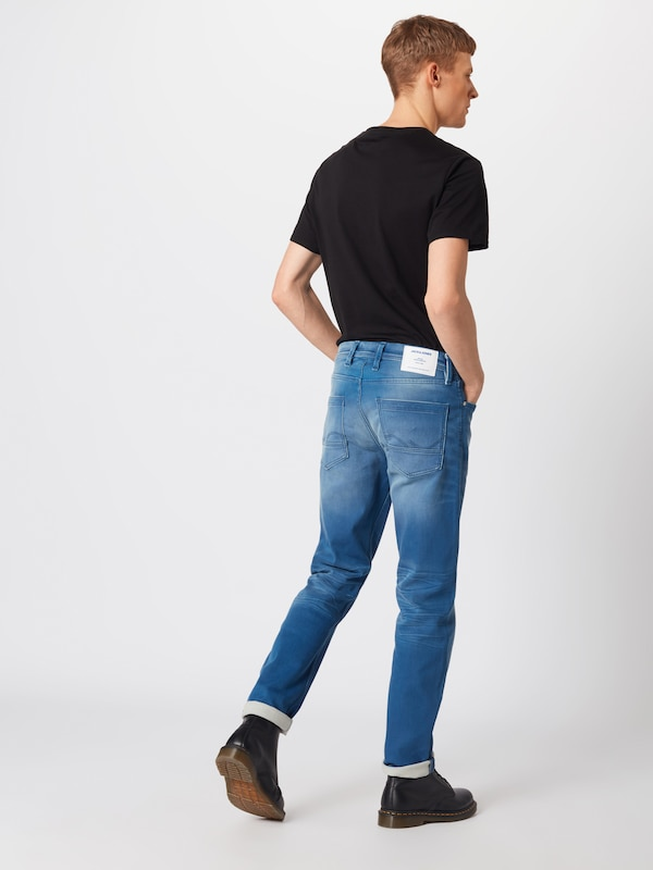 JACK & JONES Jeans 'The Leon' in blue denim: Rückansicht
