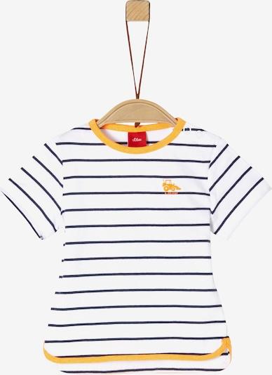 s.Oliver T-Shirt in navy / gelb / weiß, Produktansicht