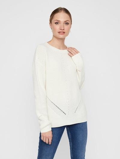 PIECES Pullover in weiß, Modelansicht