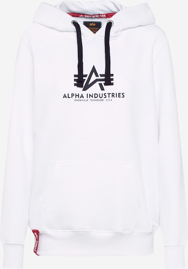 ALPHA INDUSTRIES Hoodie in weiß, Produktansicht