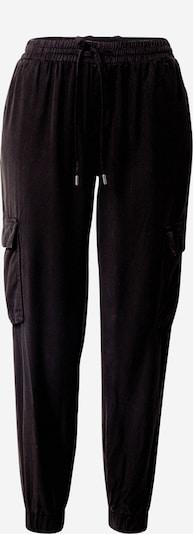 VILA Pantalon cargo en noir, Vue avec produit