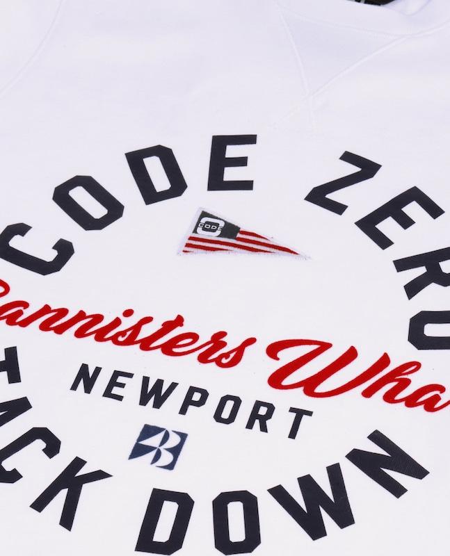 CODE-ZERO CODE-ZERO CODE-ZERO Sweatshirt 'NEWPORT CREW SWEATER' in weiß  Große Preissenkung 6f3743