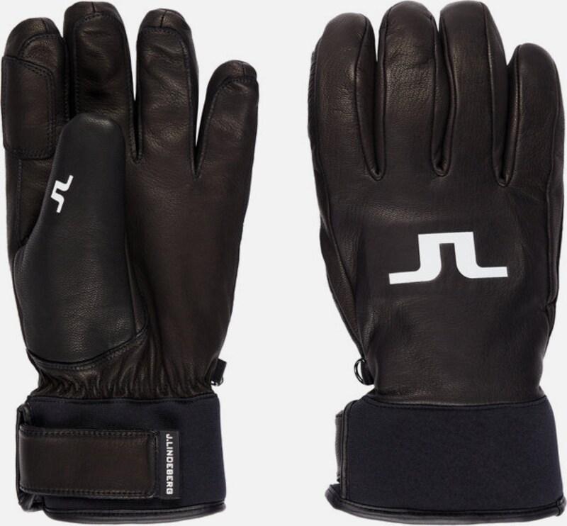 c2ff9c2f48011 J.Lindeberg Rękawiczki pięciopalczaste w kolorze czarnym