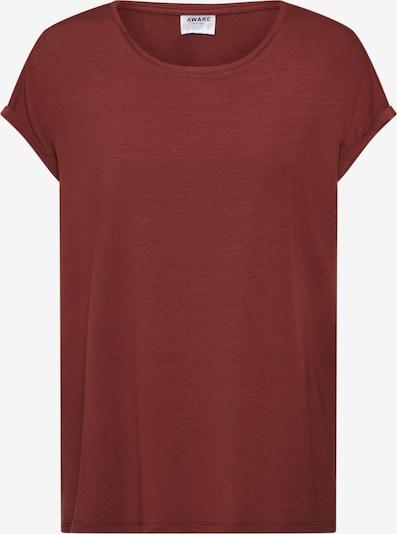 VERO MODA T-Shirt 'AVA PLAIN' in weinrot, Produktansicht