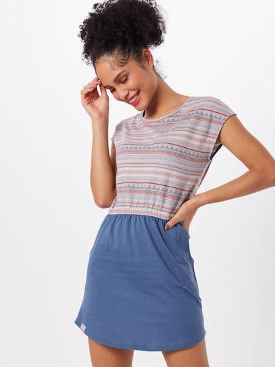 Iriedaily Kleid 'Kachina' in blau / rot, Modelansicht