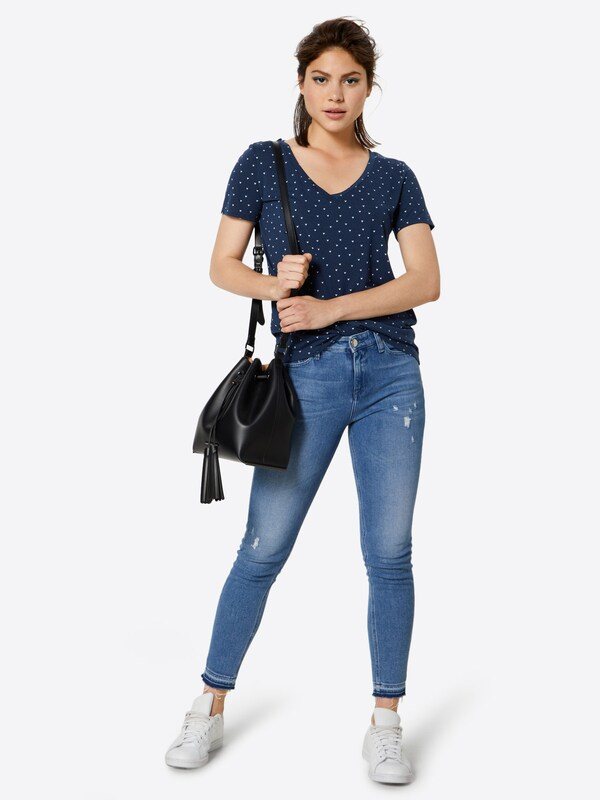 Jacqueline shirt MarineBlanc De Yong En T Bleu srtQdxChB