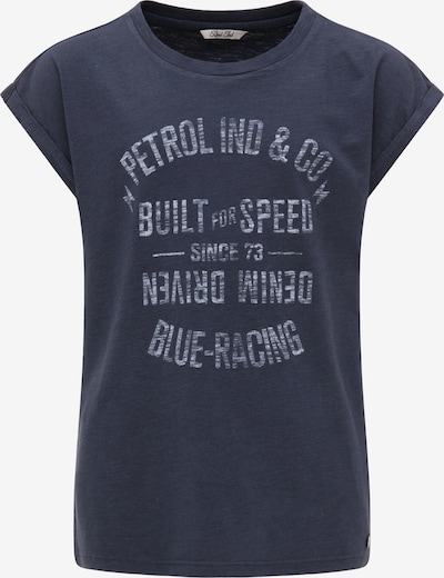 Petrol Industries T-Shirt in navy / weißmeliert: Frontalansicht