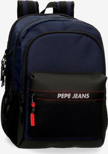 Pepe Jeans Rucksack 'Split' in nachtblau / rot / schwarz / weiß, Produktansicht