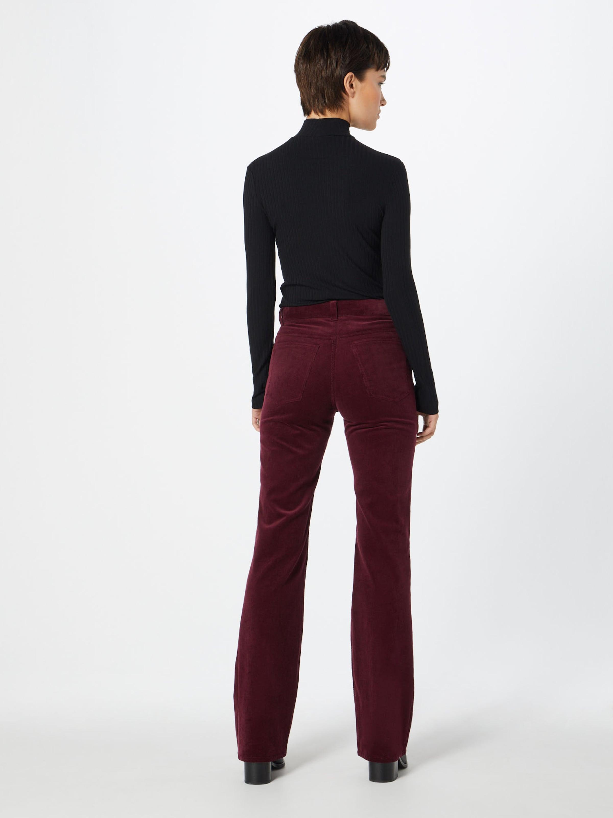 Dunkelrot Calvin Klein In 'corduroy' Hose hdsrtQ