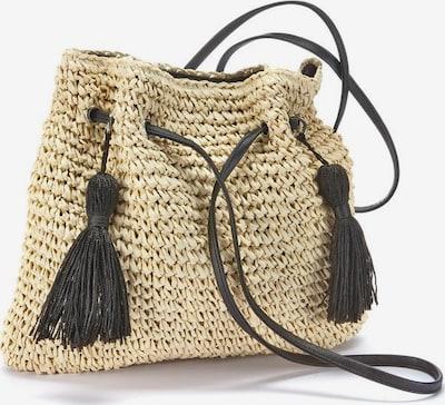 LASCANA Strandtasche in beige / dunkelbraun, Produktansicht