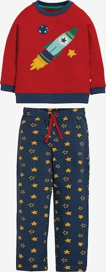 frugi Schlafanzug in navy / goldgelb / rot, Produktansicht