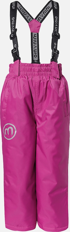 MINYMO Skihose 'Oxford Solid' in pink: Frontalansicht
